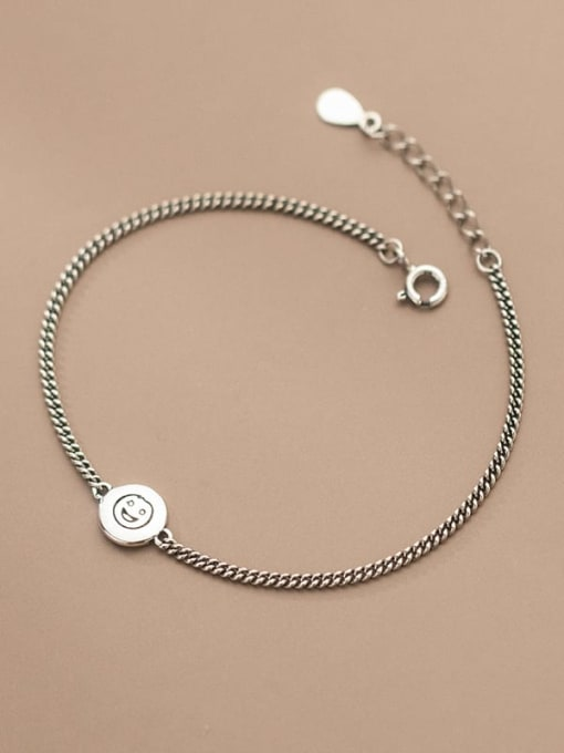 Rosh 925 Sterling Silver Geometric Vintage Link Bracelet 2