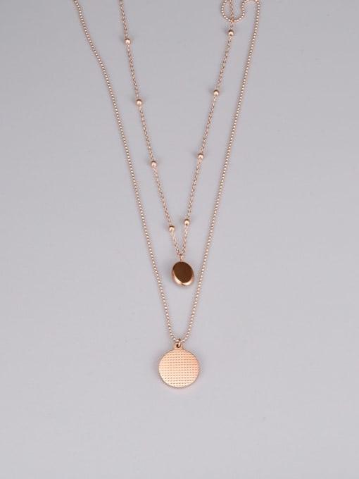 A TEEM Titanium Steel Round Minimalist Multi Strand Necklace 2