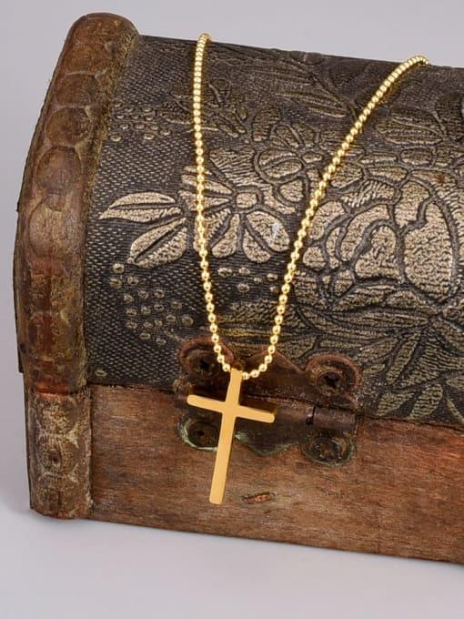 A TEEM Titanium Steel Cross Minimalist Necklace 1