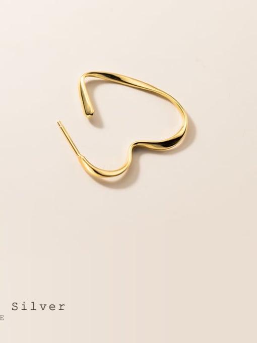 Rosh 925 Sterling Silver Heart Minimalist Huggie Earring 4