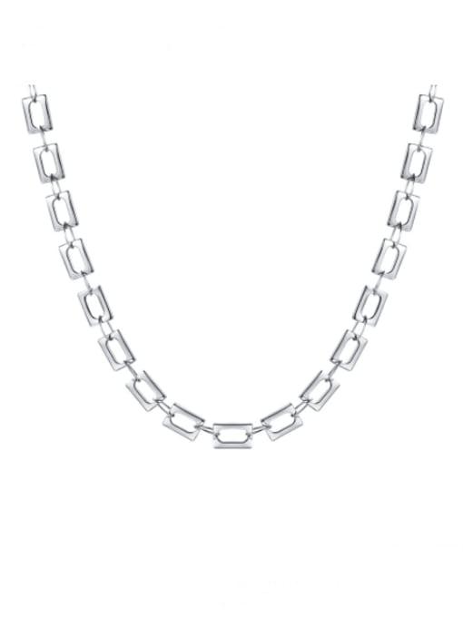 CONG Titanium Steel Hollow Geometric Minimalist Necklace 3