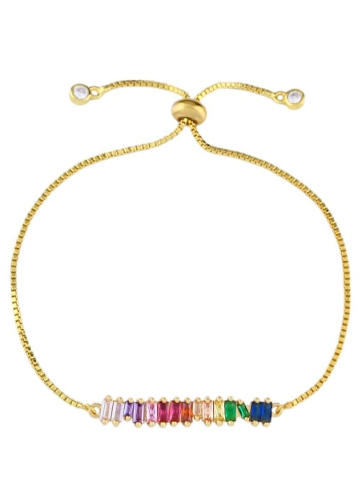 CC Alloy Cubic Zirconia Geometric Dainty Link Bracelet 0