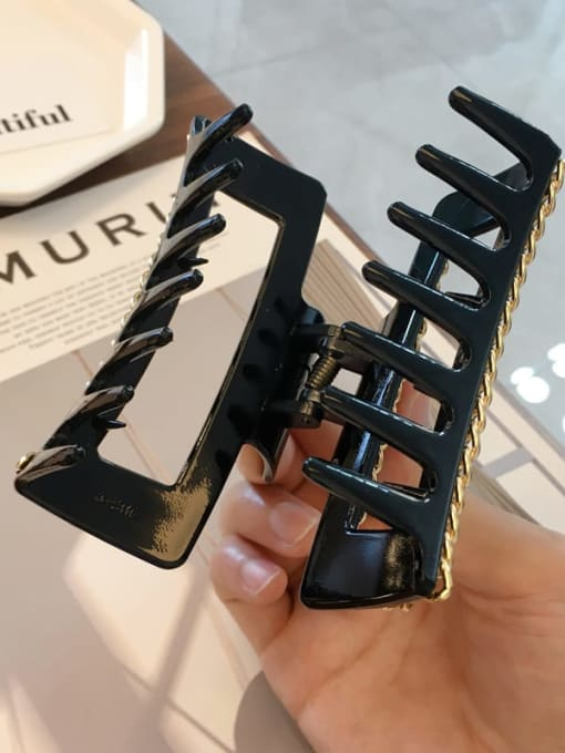 Chimera Cellulose Acetate Alloy  Chain Vintage Geometric Jaw Hair Claw 4
