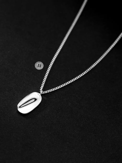 Rosh 925 Sterling Silver Smooth Geometric Minimalist Necklace 1
