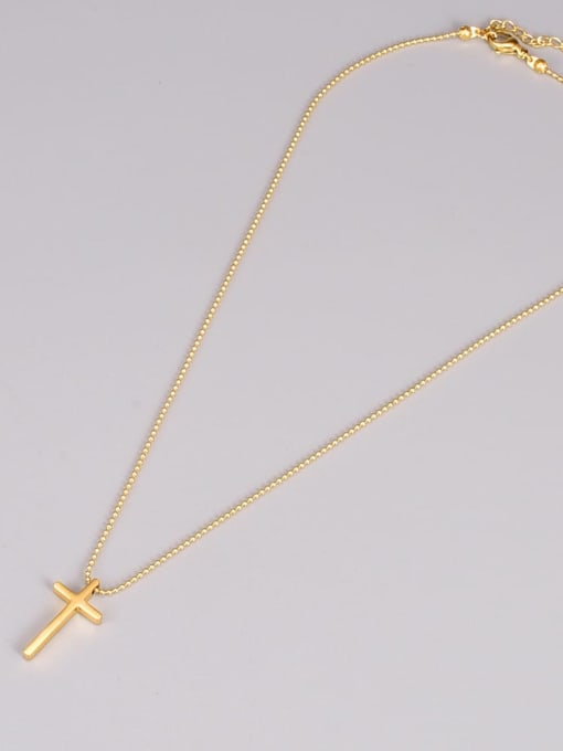 A TEEM Titanium Steel Cross Minimalist Necklace 2