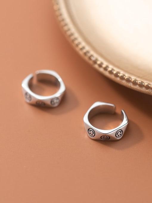 Rosh 925 Sterling Silver Geometric Vintage Huggie Earring 1