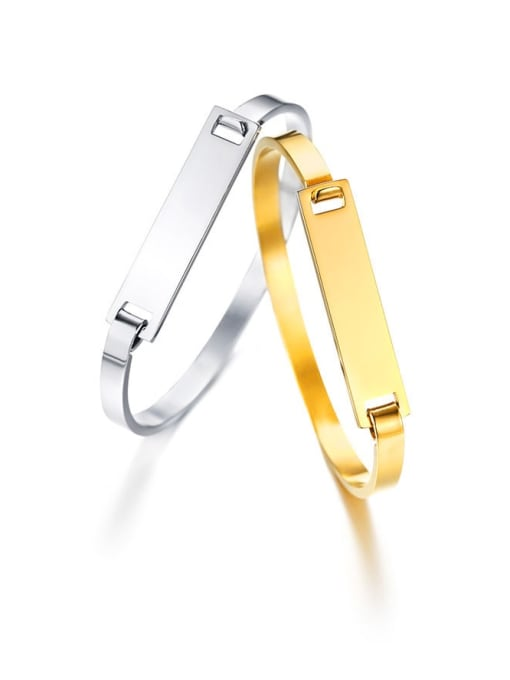 CONG Stainless steel Smooth Geometric Minimalist Band Bangle 4