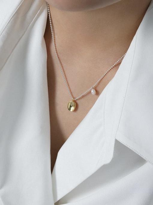 DAKA 925 Sterling Silver Irregular Vintage Necklace 2