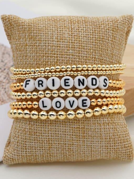 Roxi Stainless steel MGB Bead Letter Bohemia Beaded Bracelet 2