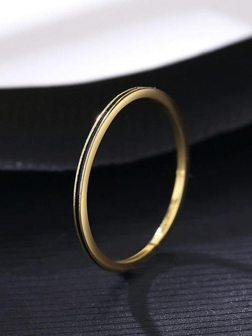 14K 11A05 Brass Round Minimalist Band Ring