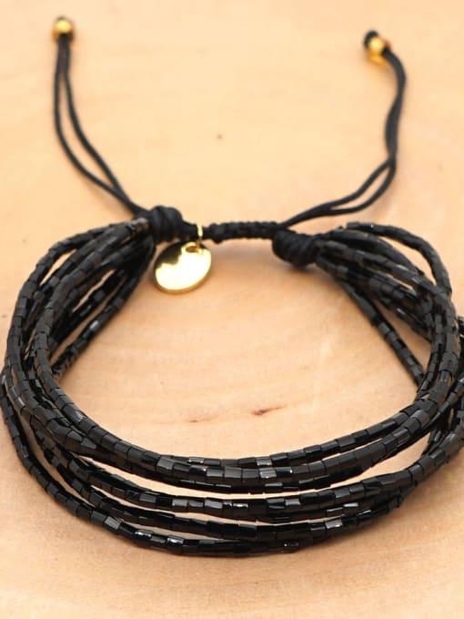 Roxi Multi Color Miyuki DB Bead Letter Bohemia Adjustable Bracelet 1