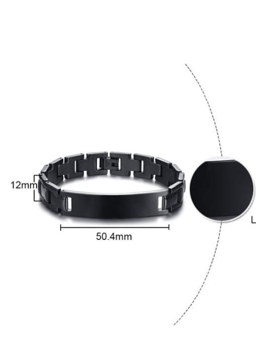 CONG Stainless steel Geometric Hip Hop Bracelet 1