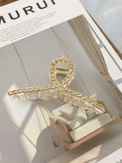 transparent color Alloy Cellulose Acetate Minimalist Geometric  Jaw Hair Claw