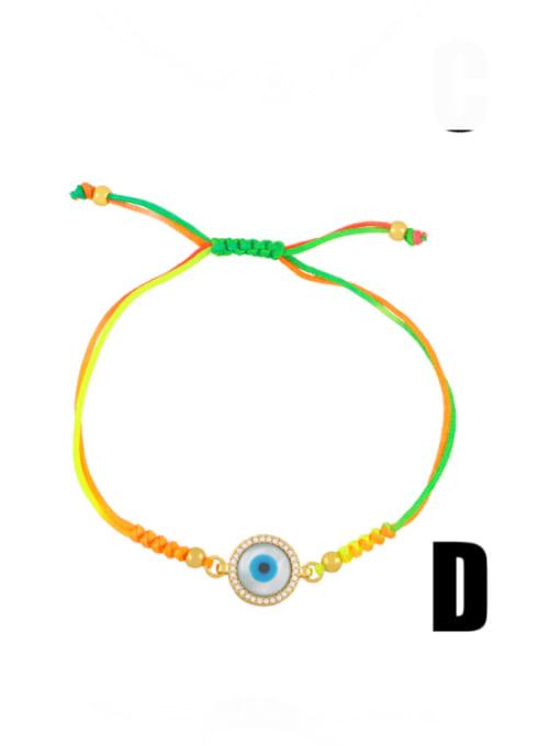 CC Brass Enamel Evil Eye Bohemia Adjustable Bracelet 4