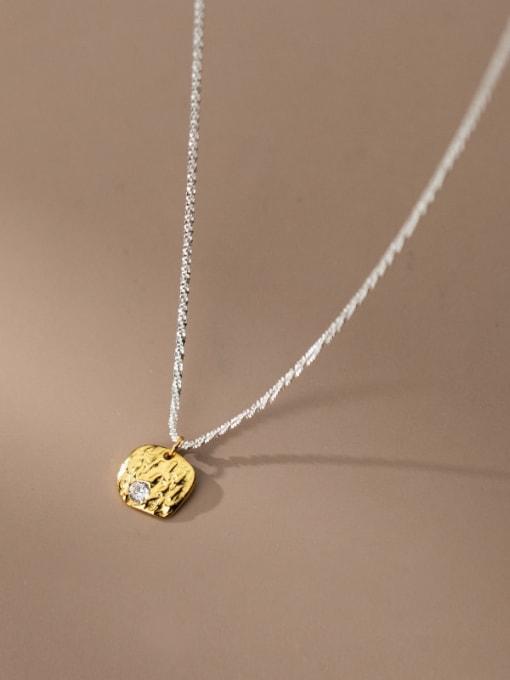 Rosh 925 Sterling Silver Rhinestone Geometric Minimalist Necklace 0