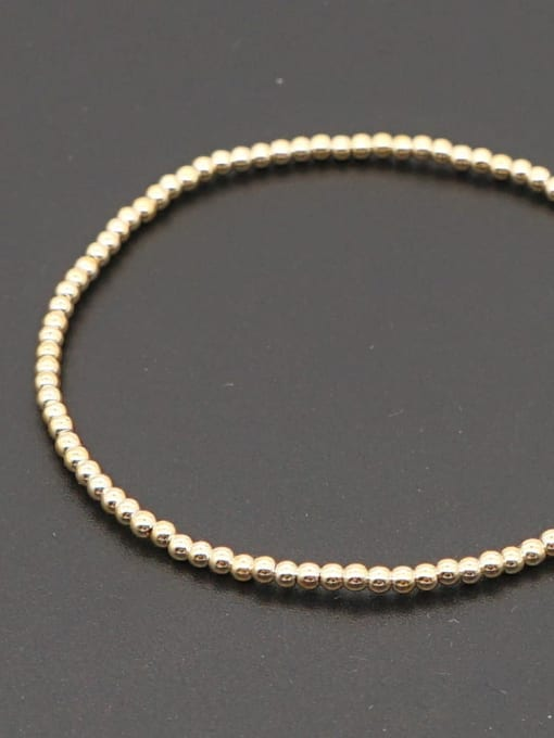 2mmQT B200110G Stainless steel Bead Round Minimalist Beaded Bracelet