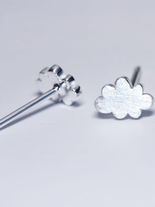 Rosh 925 Sterling Silver Cloud Minimalist Stud Earring 2