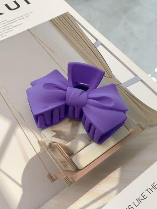 violet Cellulose Acetate Minimalist  multicolor Bowknot Jaw Hair Claw