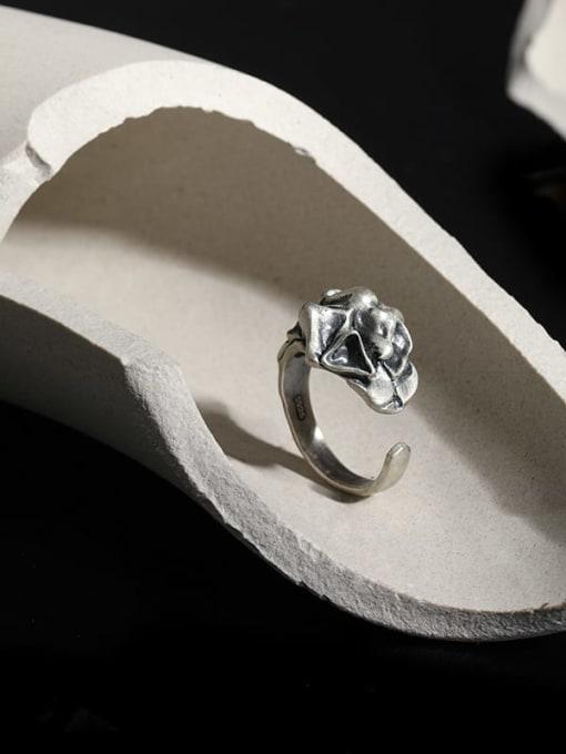 DAKA 925 Sterling Silver Irregular Vintage Band Ring 1