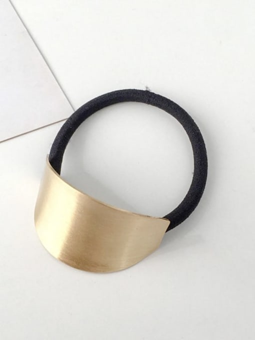 9 golden oval Rubber band Minimalist Geometric Alloy Hair Rope