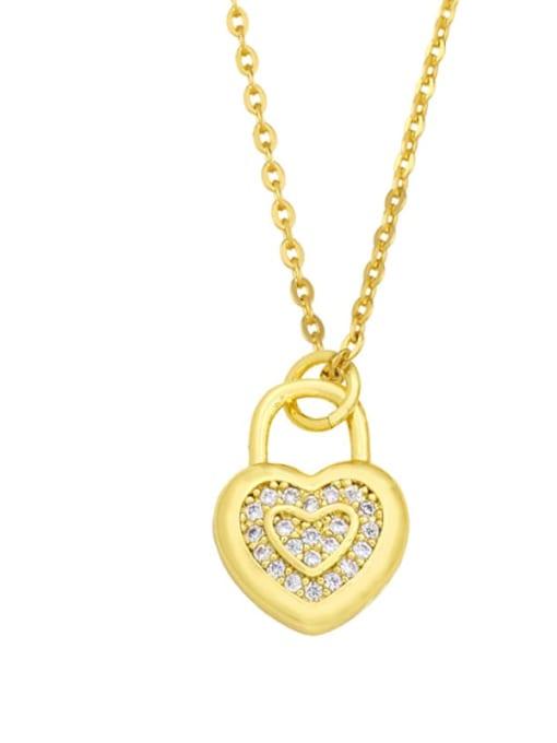 C Brass Cubic Zirconia Moon Minimalist Necklace
