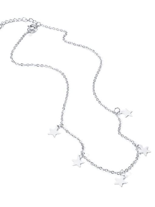 CONG Titanium Steel Smooth Star Minimalist Necklace 0