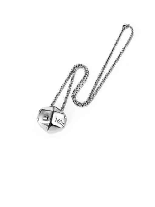 Open Sky Titanium Steel Geometric Hip Hop Necklace 0