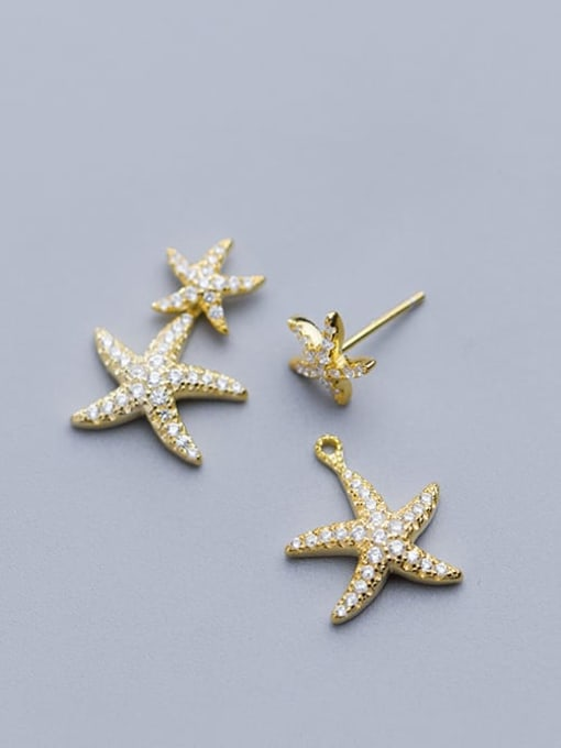 Rosh 925 Sterling Silver Cubic Zirconia Star Ethnic Stud Earring 4