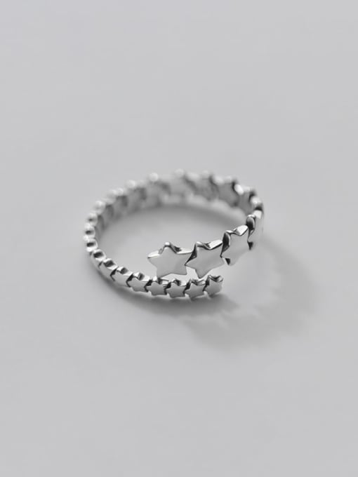 Rosh 925 Sterling Silver Star Minimalist Band Ring 4