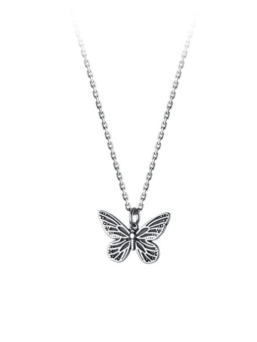 Rosh 925 Sterling Silver Butterfly Vintage Necklace 0