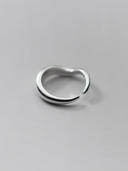 Rosh 925 Sterling Silver Round Minimalist Band Ring 4