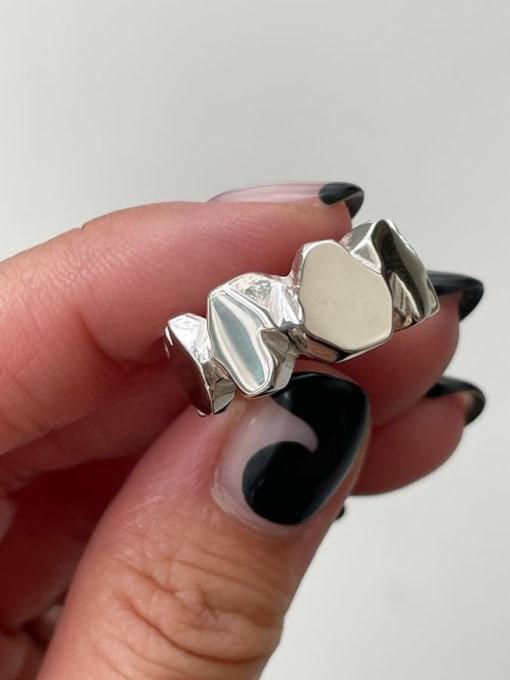 Boomer Cat 925 Sterling Silver Geometric Minimalist Band Ring 0