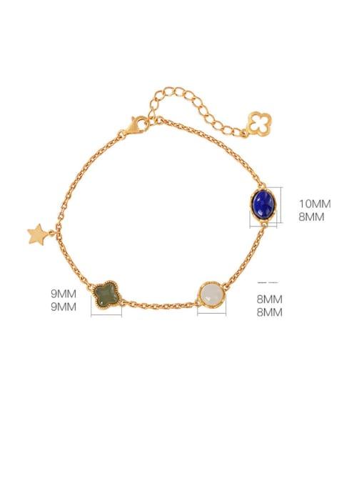 DEER 925 Sterling Silver Jade Oval Vintage Link Bracelet 3