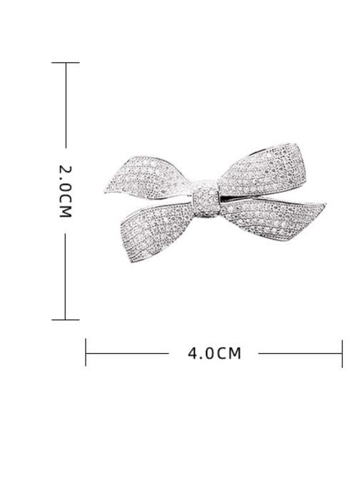 Luxu Brass Cubic Zirconia Bowknot Statement Brooch 2
