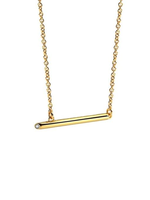 CHARME Brass Rhinestone Geometric Minimalist Pendant Necklace 4