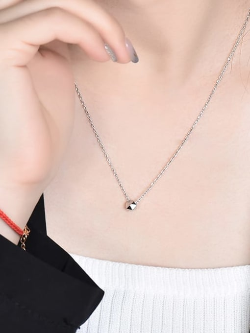 XBOX 925 Sterling Silver Smooth Geometric Minimalist  Pendant Necklace 2