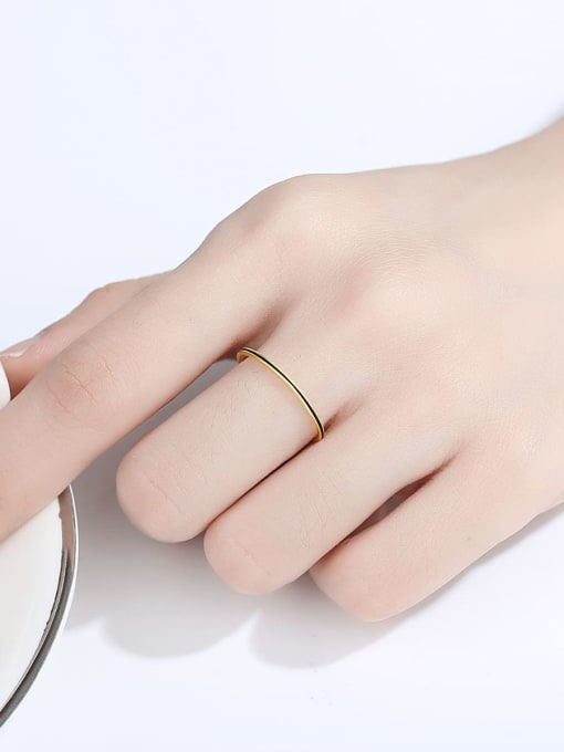CCUI Brass Round Minimalist Band Ring 1