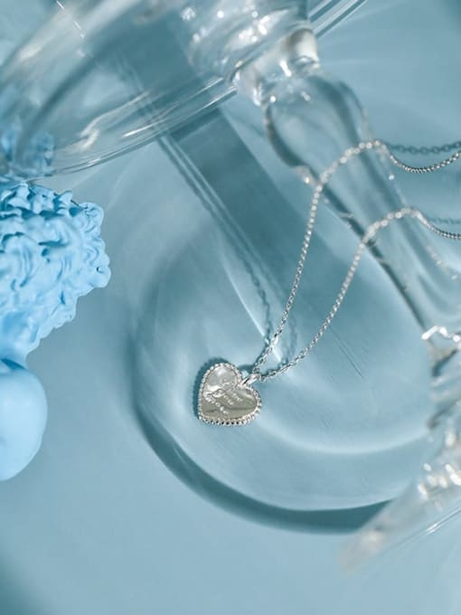DAKA 925 Sterling Silver Heart Minimalist Necklace 1