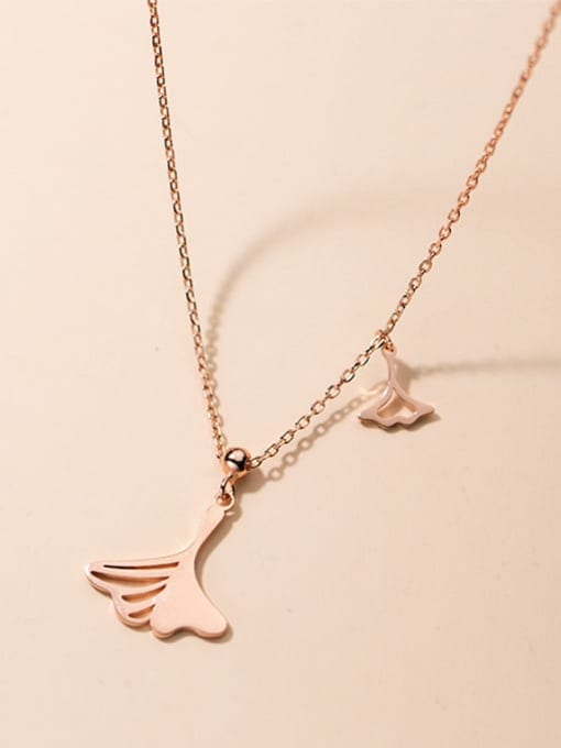 Rosh 925 Sterling Silver Hollow Tree Leaf Minimalist Necklace 4