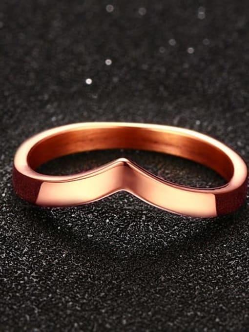 CONG Titanium Steel Geometric Minimalist Band Ring 2