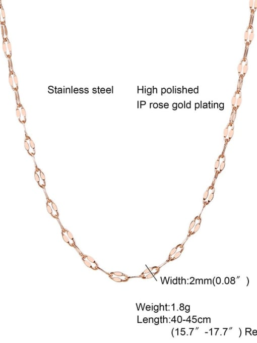 CONG Titanium Steel Irregular Minimalist Necklace 1
