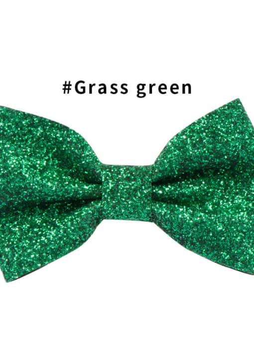 1 grass green Alloy Fabric Cute Bowknot  Multi Color Hair Barrette