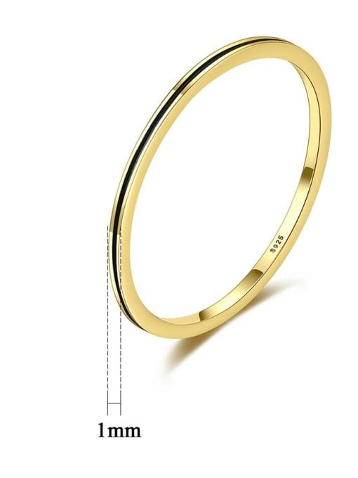 CCUI Brass Round Minimalist Band Ring 4