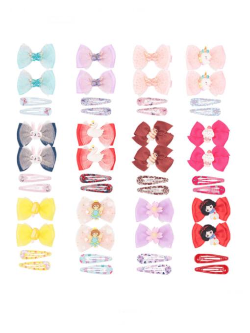 YOKI KIDS Alloy Yarn Cute Bowknot  Multi Color Hair Barrette 0