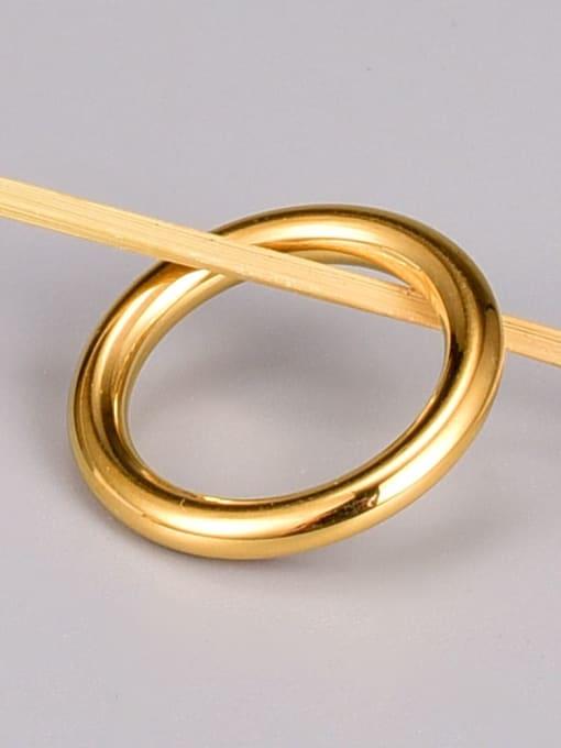 A TEEM Titanium Steel Smooth Round Minimalist Band Ring 2