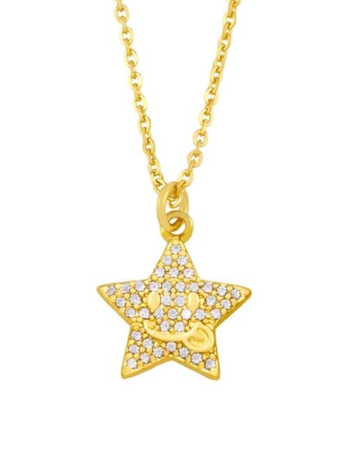 CC Brass Cubic Zirconia Star Vintage Necklace 1
