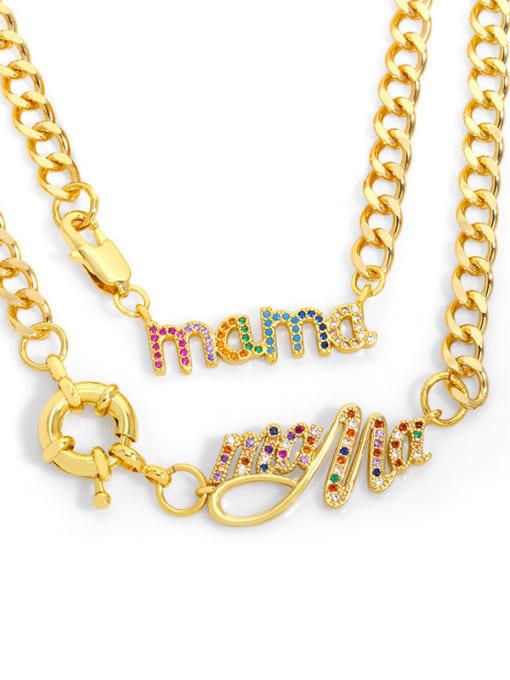 CC Brass Cubic Zirconia  Hip Hop Letter Pendant Necklace