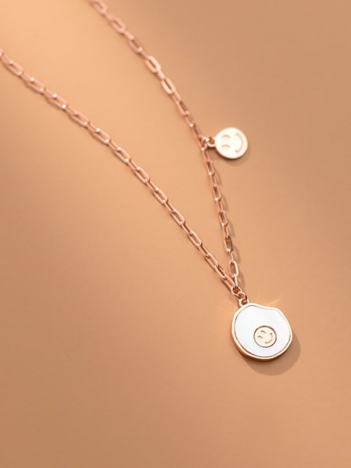Rosh 925 Sterling Silver Shell Geometric Minimalist Necklace