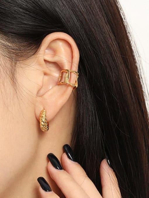 DAKA 925 Sterling Silver Hollow Geometric Minimalist Single Earring 3