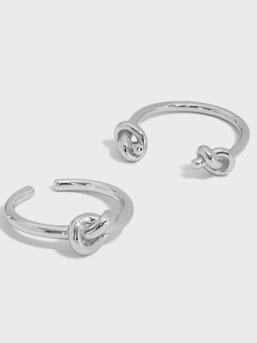 DAKA 925 Sterling Silver Hollow knot Vintage Band Ring 4